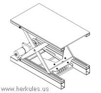 Pneumatic Lift Table Design lx lift table main image Herkules_belt_drive_lift_table_v0648_01