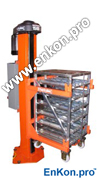 v0622_02 lcpeas - lift cart post electric acme screw with cart - herkules post lift electric acme screw, fork free cart positioner, cart lift, material handling, ergonomic, hercules