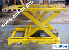 v0817_02_enkon_automated_belt_drive_scissor_lift_conveyor_table_system