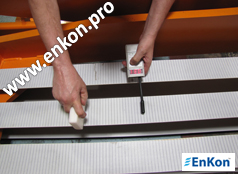 v0863_03_enkon_belt_drive_scissor_lift_table_tension_frequency_test