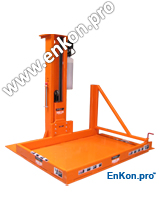 v1081_01_enkon_hydraulic_post_lift_ with_safety_gate